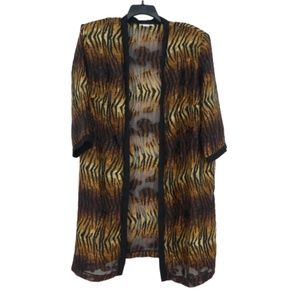 3 for $20- Vintage Tiger Print Kimono Duster Robe